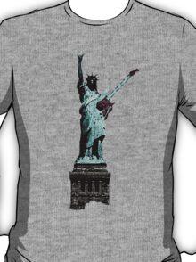 Miss Liberty Rocks Street Art T-Shirt