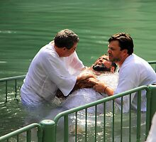 Baptised in the Jordan river #4 by Moshe Cohen