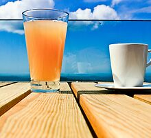 Coffee in the Sky with OJ by tutulele