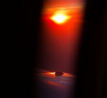 Sunset, Airplane by tutulele