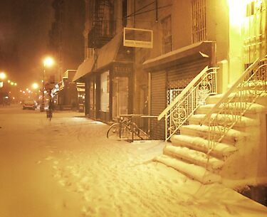 Snow - Lower East Side - New York City by Vivienne Gucwa