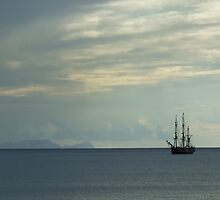 Tall Ship off Funchal Madeira by Garrington