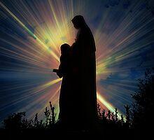 St Anne Statue - Roswell, Ga by Scott Mitchell