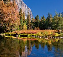 Autumn Reflection and El Capitan by Floyd Hopper