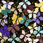 Paper Butterflies - take to flight! by Lisa Frances Judd ~ QuirkyHappyArt