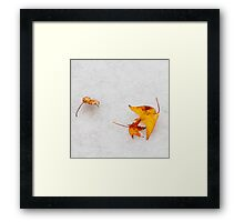 Nature is painting on white canvas Framed Print