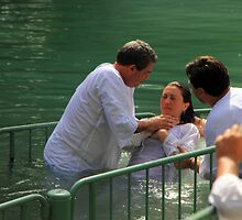 Baptised in the Jordan river #13 by Moshe Cohen