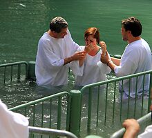 Baptised in the Jordan river #17 by Moshe Cohen
