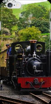 iphone case Vale of Rheidol Railway, Wales  by buttonpresser
