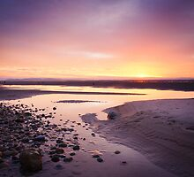Setting Sun at Findhorn (v2) by Christopher Thomson