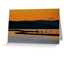 Sidney Spit Sunset Greeting Card