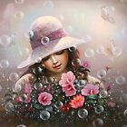 soap bubble girl - rose Sharon of song by Yoo Choong Yeul