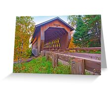 Smith Rapids Covered Bridge,Price County,Wisconsin U.S.A. Greeting Card