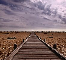 Wooden Walkway to the Sea by Nigel Bangert
