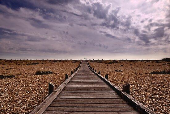 Wooden Walkway to the Sea by Nigel Bangert