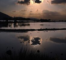 Elounda Salt lakes  by larry flewers