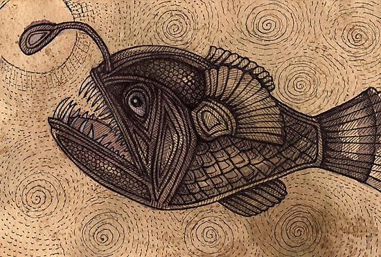 Black Devilfish (or The Angler Fish) by Lynnette Shelley