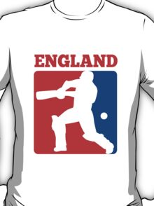 cricket player batsman batting England T-Shirt