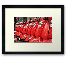 Red Riders Framed Print