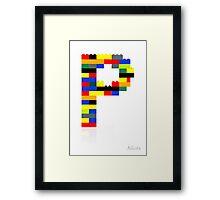"""""""P"""" Framed Print"""