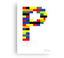 """P"" Canvas Print"