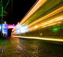 Tram Light Trail by Yhun Suarez