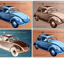 VW Beetle Collage by ©The Creative  Minds