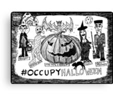Occupy Halloween cartoon Canvas Print