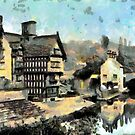 Beautiful Britain - Packet House, Worsley 1866 by Dennis Melling