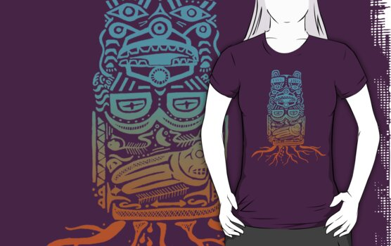 Forest Totem T-Shirt by Birdie Murray