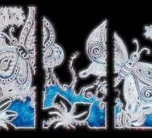 Butterfly tryptic doodle by KalonaCreations
