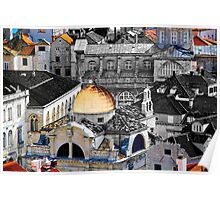 The Essence of Croatia - The Rooftops of Dubrovnik Poster