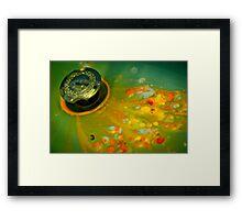 Paint Drops Framed Print