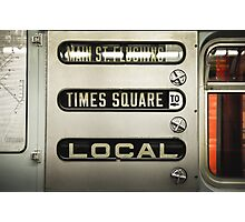 Times Square Local Photographic Print