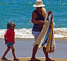 Beach Seller2, Acapulco, Mexico. by bulljup