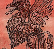 Red Gryphon by Lynnette Shelley