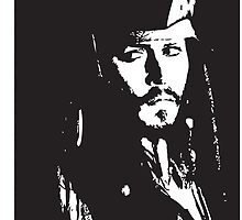 Captain Jack Sparrow iPhone Case by Lauren Eldridge-Murray