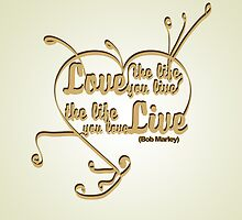 Typography Posters - Bob Marley Quotes 2 by ozyardiansyah