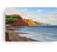 Triassic Cliffs, Sidmouth, Devon, UK Canvas Print