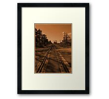 Put me on a train mama..This place just ain't the same no more..I'm leavin' today..There's a life out there and it's gonna be mine Framed Print