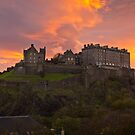 Sunrise over Edinburgh Castle by Philip Kearney