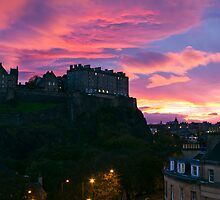 Sunrise over Edinburgh Castle (4) by Philip Kearney