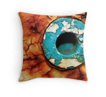 Hole In The Rust Throw Pillow