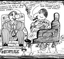 Occupy Logic top 1% cartoon by bubbleicious