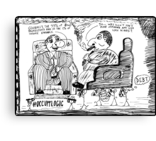 Occupy Logic top 1% cartoon Canvas Print
