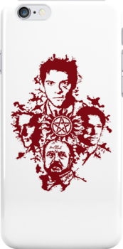 Supernatural Portraits in blood by MightyRain
