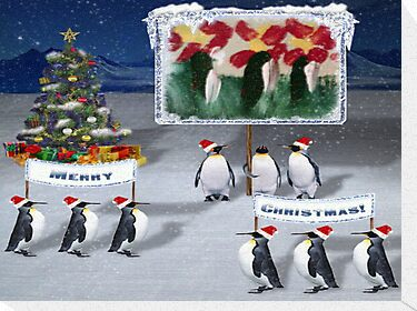 A Chilly Willy Christmas....... by WhiteDove Studio kj gordon