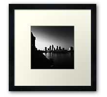 sundown on the city Framed Print