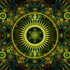 """Metatron's Magick Wheel"" - Fractal Art - iPhone Case by Leah McNeir"