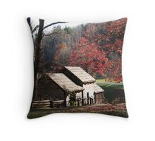 Mabry Mill in the Fall~ Throw Pillow